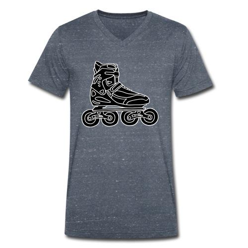 Inlineskates - Männer Bio-T-Shirt mit V-Ausschnitt von Stanley & Stella