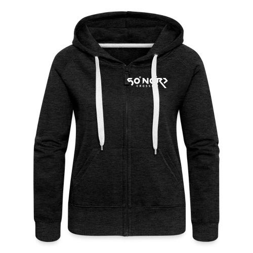 50° Ultras Weiss / Hoodie mit Zipper - Frauen Premium Kapuzenjacke