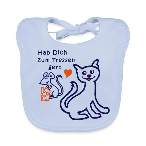 Katze und Maus - Baby Bio-Lätzchen