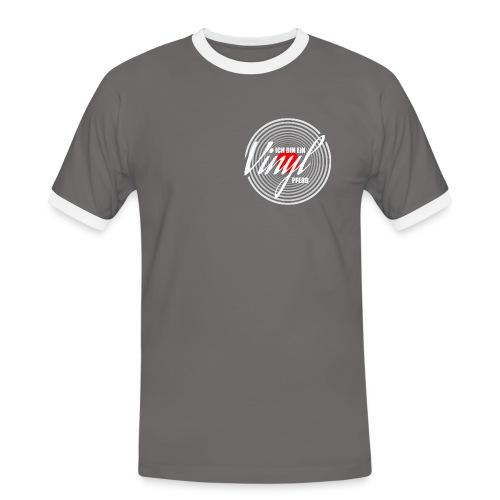 Ich bin ein Vinyl Pferd - Männer Kontrast-T-Shirt