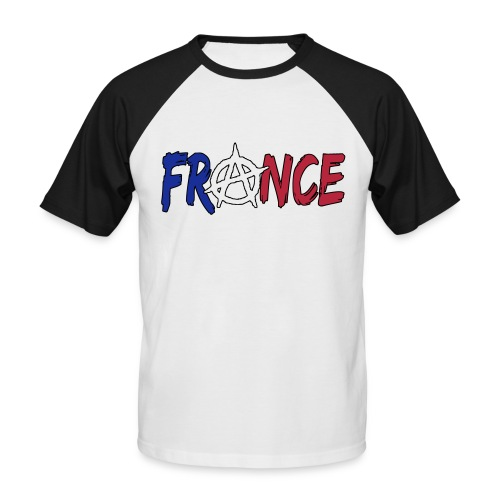 France anarchiste - T-shirt baseball manches courtes Homme