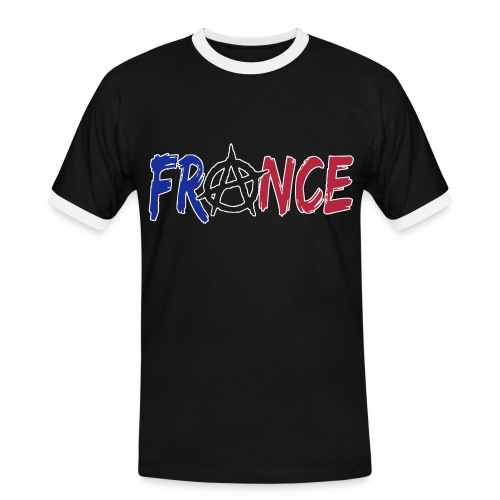 France anarchiste - T-shirt contrasté Homme