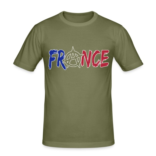 France anarchiste - T-shirt près du corps Homme