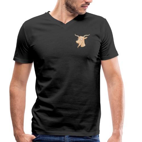 Ziegenbock Brustlogo - Männer Bio-T-Shirt V-Auschnitt - Männer Bio-T-Shirt mit V-Ausschnitt von Stanley & Stella