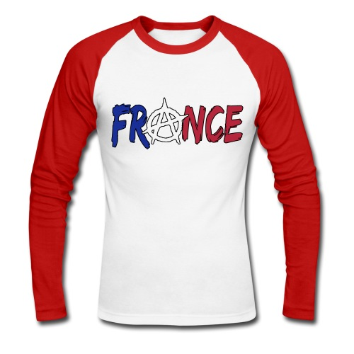 France anarchiste - T-shirt baseball manches longues Homme