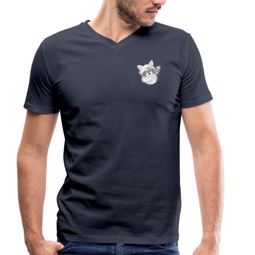 cooler Waschbär - Männer Bio-T-Shirt V-Ausschnitt - Männer Bio-T-Shirt mit V-Ausschnitt von Stanley & Stella