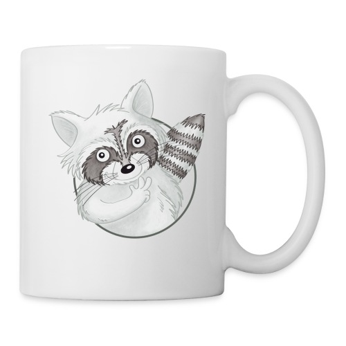 cooler Waschbär - Tasse weiß - Tasse