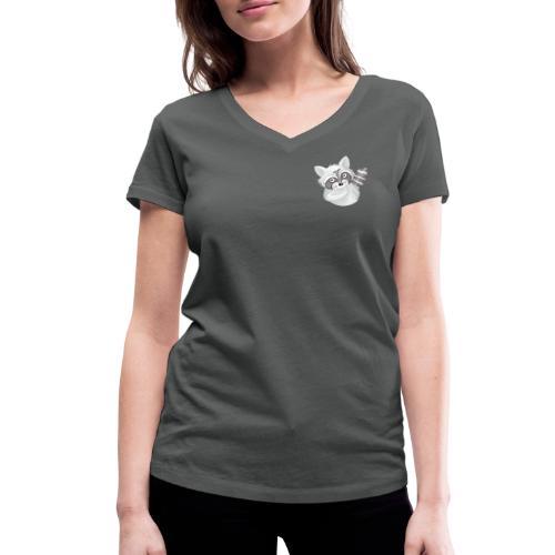 cooler Waschbär - Frauen Bio-T-Shirt V-Ausschnitt - Frauen Bio-T-Shirt mit V-Ausschnitt von Stanley & Stella