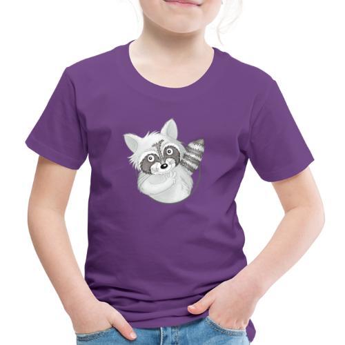 cooler Waschbär - Kinder Premium T-Shirt  - Kinder Premium T-Shirt