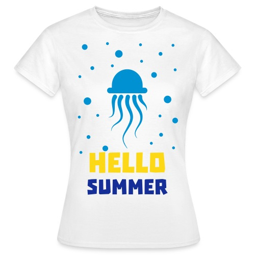 Qualle Hello Summer - Women - Frauen T-Shirt