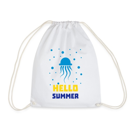Qualle Hello Summer - Sport Bag - Turnbeutel