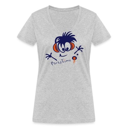 Party - Frauen Bio-T-Shirt mit V-Ausschnitt von Stanley & Stella