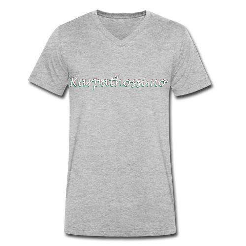 KARPATHOS GRAU - Männer Bio-T-Shirt mit V-Ausschnitt von Stanley & Stella