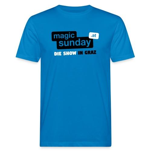 Die Show - blau - Männer Bio-T-Shirt