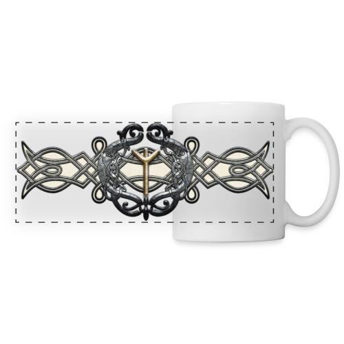 Algiz Minne Mug - Mug panoramique contrasté et blanc