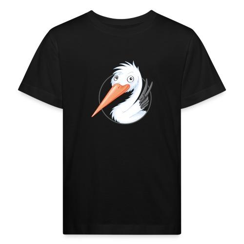 süßer Storch - Kinder Bio-T-Shirt  - Kinder Bio-T-Shirt