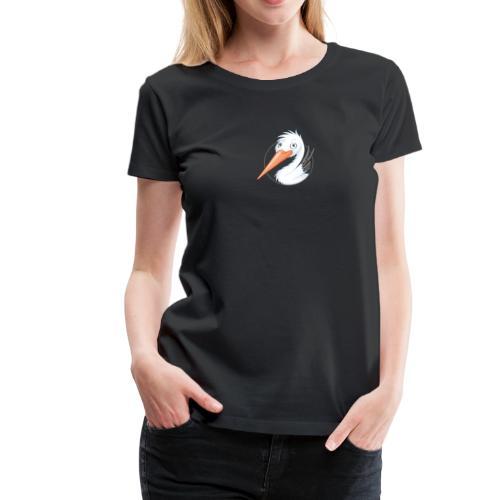 süßer Storch - Frauen Premium T-Shirt  - Frauen Premium T-Shirt