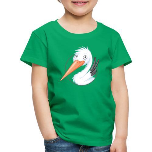 süßer Storch - Kinder Premium T-Shirt  - Kinder Premium T-Shirt