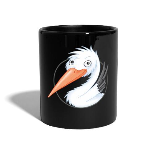 süßer Storch - Tasse farbig - Tasse einfarbig