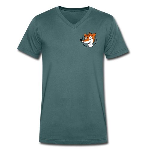 Fuchs farbig - Männer Bio-T-Shirt V-Ausschnitt - Männer Bio-T-Shirt mit V-Ausschnitt von Stanley & Stella