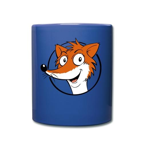 Fuchs farbig - Tasse farbig  - Tasse einfarbig