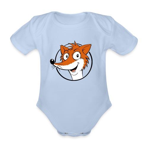 Fuchs farbig - Baby Bio-Kurzarm-Body  - Baby Bio-Kurzarm-Body