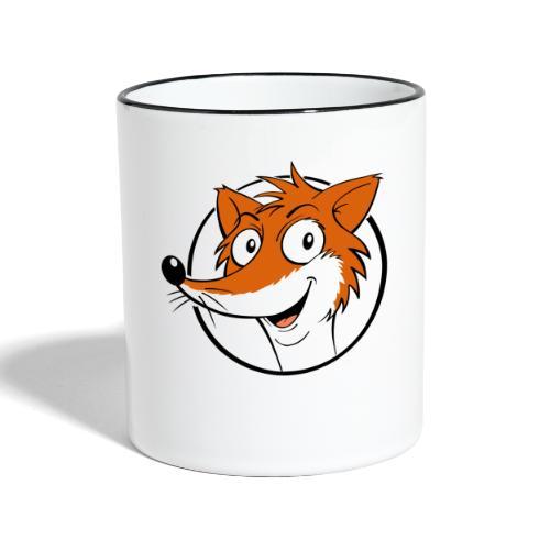 Fuchs farbig - Tasse zweifarbig  - Tasse zweifarbig