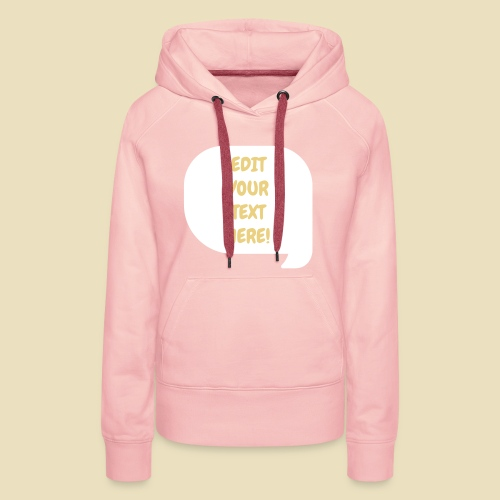 Custom Comic Text - Frauen Premium Hoodie