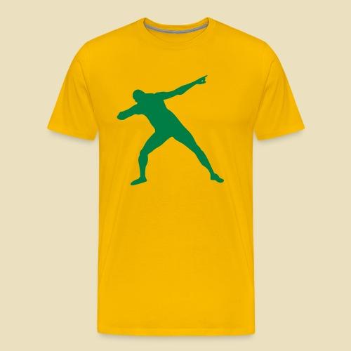 Bolt Siegerpose - Männer Premium T-Shirt