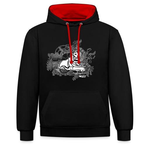 Left lion hoodie - Contrast Colour Hoodie
