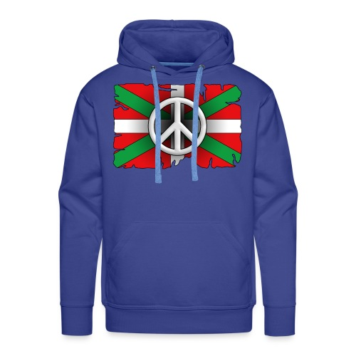 Peace Basque Flag - Sweat-shirt à capuche Premium pour hommes