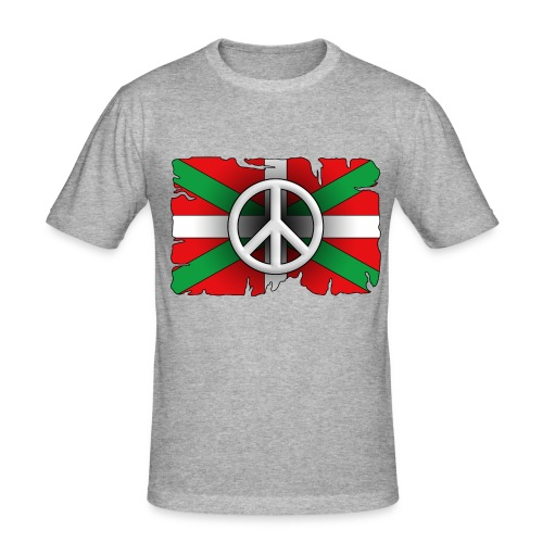 Peace Basque Flag - T-shirt près du corps Homme