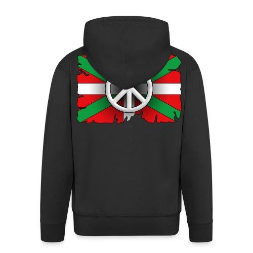 Peace Basque Flag - Veste à capuche Premium Homme
