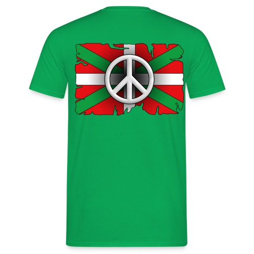 Peace Basque Flag - T-shirt Homme