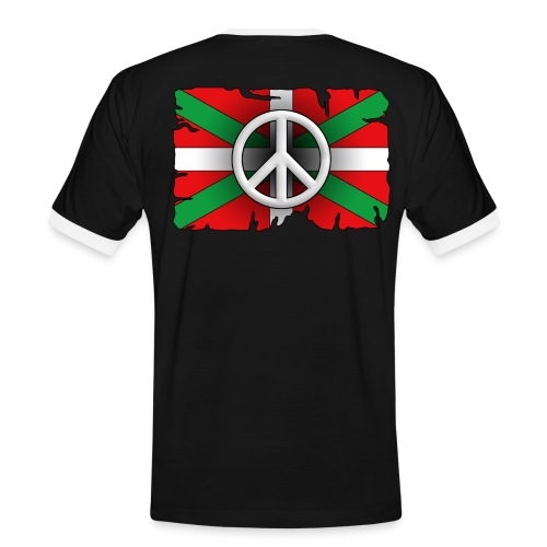 Peace Basque Flag - T-shirt contrasté Homme