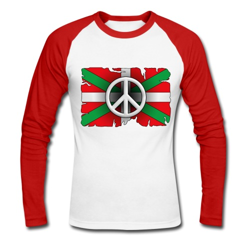 Peace Basque Flag - T-shirt baseball manches longues Homme