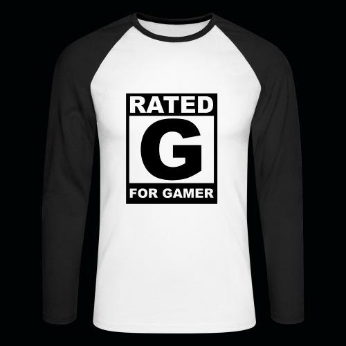 RATED G FOR GAMER Tee. - Men's Long Sleeve Baseball T-Shirt