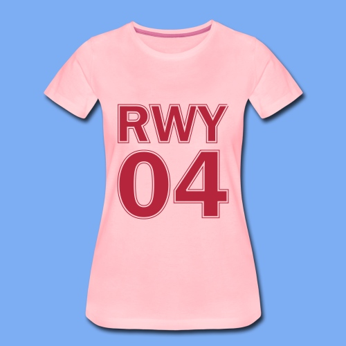Runway 04 Landebahn Pilot landen - Women's Premium T-Shirt
