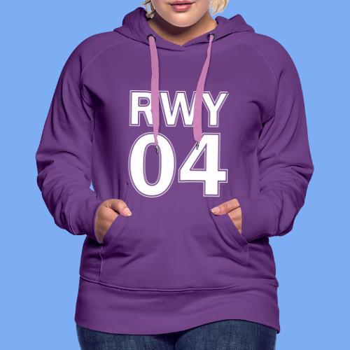 Runway 04 Landebahn Pilot landen - Women's Premium Hoodie