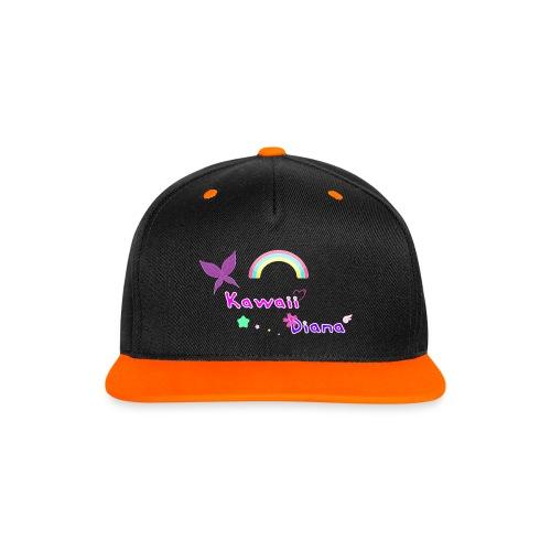 Kawaii Diana gorra negro y naranja - Gorra contraste Snapback