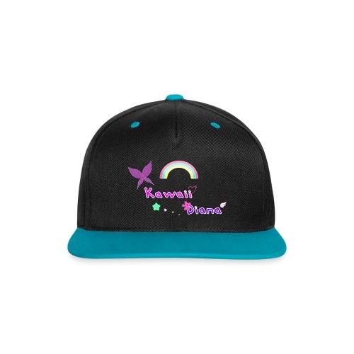 Kawaii Diana gorra negro y azul - Gorra contraste Snapback