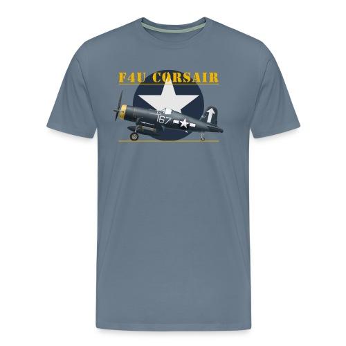 F4U Corsair Hedrick - T-shirt Premium Homme