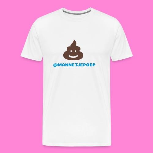 Mannetje Poep Happy Drol Man - Mannen Premium T-shirt