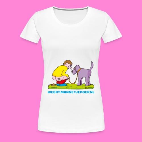Mannetje Poep beeld originele tekening vrouw - Vrouwen Premium T-shirt
