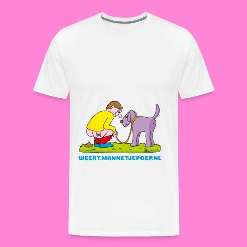 Mannetje Poep origineel ontwerp beeld Man - Mannen Premium T-shirt