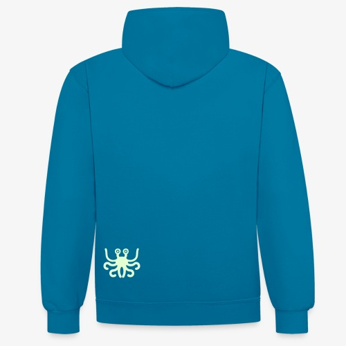 UFO Spaghetti Monster Blue - Contrast Colour Hoodie