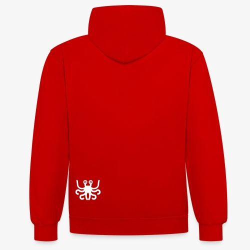 the RED pastafarians - Contrast Colour Hoodie