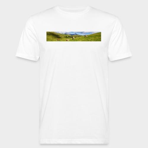 Kuh-Panorama (Herren BIO) - Männer Bio-T-Shirt