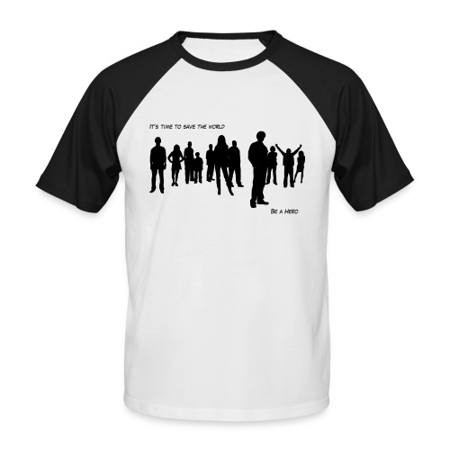 B&W Heroes - T-shirt baseball manches courtes Homme