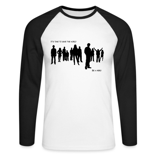 B&W Heroes - T-shirt baseball manches longues Homme